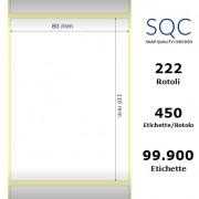 Etichette SQC - Carta termica protetta (bobina), formato 80 x 110