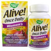 Natures way Nature's Way, Alive! Once Daily Women's Ultra Potency Multi-Vitamin, 60 Tablets
