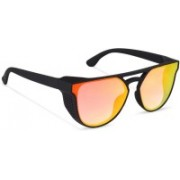 TOUCH OF FINE Retro Square Sunglasses(Orange)