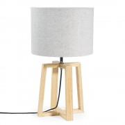 Maisons du Monde HEDMARK 44cm-high grey fabric and wood lamp