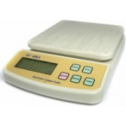 ROBMOB Premium Quality Electronic Compact Kitchen Scale SF-400A (1gm to 10kgs) Weighing Scale (OFF WHITE) Weighing Scale(White)