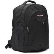 LeeRooy Canvas 18 Ltr Black School Bag Backpack For Unisex