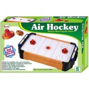 SHRIBOSSJI Air Hockey Game Mini Tabletop airhockey indoor game play on table for kids Toy Playset