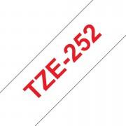 Tape 24mm TZe-252 Röd på Vit