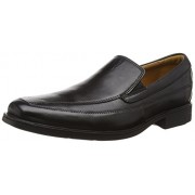 Clarks Men's Tilden Free Black Leather Formal Shoes - 8 UK