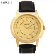 Laurels Exquisite Analog Gold Dial Mens Watch - Lo-Ex-101