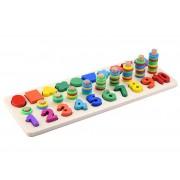 Joc sortare din lemn 3 forme three in one digital shape pairing
