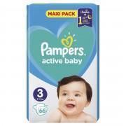 Pampers Active Baby vel. 3 Midi dětské pleny 66 ks