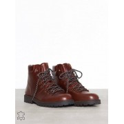 Selected Homme Slhisaac Leather Hiking Boot W Chelsea boots Chocolate