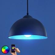 LED pendant light Bowl WiFi 31cm black