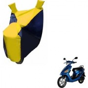 Intenzo Premium Yellow and Black Two Wheeler Cover for Yo Bike Yo Spark