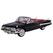 Motormax 1:18 1960 Chevrolet Impala Convertible Vehicle, Red