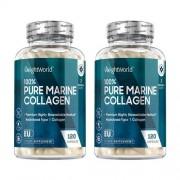 WeightWorld Pure Marine Collageen – Hoog Potentie Supplement voor jeugdige uitstraling - 1755mg – 2 pack