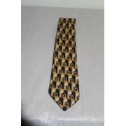 "Cravata retro print heraldic ""Moroni"" anii '80"
