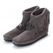 【SALE 35%OFF】ミネトンカ Minnetonka Hi Top Back Zip Boots (グレー) レディース