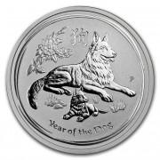 Lunární série II. stříbrná mince 0,5 AUD Year of the Dog Rok psa 1/2 Oz 2018