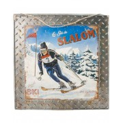 Le Ski de Slalom - 40x40 cm Metallskylt
