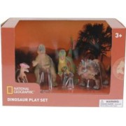 Set 4 figurine National Geographic Chasmosaurus Guanlong Pachycephalosaurus si T Rex