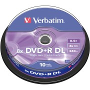 DVD+R8,5 VER10 - Verbatim DVD+R 8,5GB, 10-er Cakebox