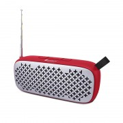 TF Card FM Supportable Portable Outdoor Bluetooth Speaker - Red