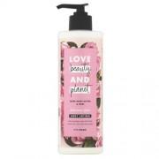Love Beauty and Planet Loțiune de corp cu ulei de trandafir și unt muru muru (Delicious Glow Body Lotion) 400 ml
