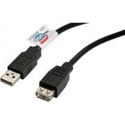 USB kabel 3m, AM -AF, Roline, black