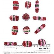 eshoppee handmade designer knitted beadsset of 12 pcs for jewellery making and home decoration