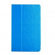 Cube U63 / U63GT horizontaal Frosted structuur PU leren Flip Hoesje met drievouws houder (blauw)