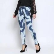 Lança Perfume Jeans High Second Skin Ankle Tie Dye - Azul Claro & Azul