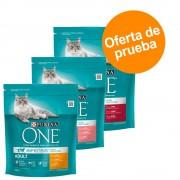 Purina ONE 3 x 800 g pienso para gatos - Pack de prueba - Pack mixto Senior: Senior 7+, Gatos esterilizados y Cuidado urinario