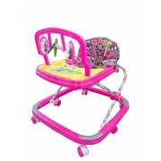 Ehomekart Pink Classic Adjustable Musical Walker for Kids