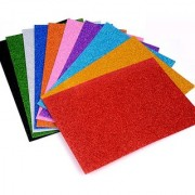 IMPRINT'S Set Of 10 A4 Size Foam Glitter Sheets - For ArtCrafts Home Office Party Decorations Mix Colors