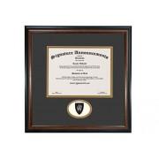 Signature Announcements Weber-State-University Marco de Diploma de graduación con Sello de Aluminio esculpido Profesional/médico, 16 x 16 Pulgadas, Color Caoba Mate