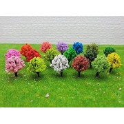 [Seoveru] Theovel Large Capacity! Also Fumofu Forest Model Tree 50 Pcs Set / Architectural Models Model Railroad Diorama Production To T0539 (Pink)