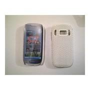 Бял силиконов твърд гръб за Nokia C7