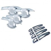 Auto Spare World Finger Guard With Door Handle Chrome Cover For Maruti Suzuki Eeco 2010-2018 Set Of 8 Pcs.