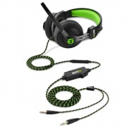HEADPHONES, Sharkoon Rush ER2, Gaming, Microphone, Black/Green