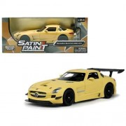 Motormax - 1/24 Satin Paint Die-Cast Collection Mercedes-Benz SLS AMG GT3 (Matte Yellow)