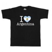 geschenkidee.ch Ländershirt Argentinien, Schwarz, XL, Mann