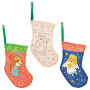 Baker Ross Nativity Colour-in Fabric Stockings (Pack of 4)