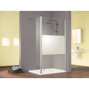 Schulte Home Paroi de douche fixe à l'italienne Walk In Solo avec volet pivotant, 90 cm, décor décent