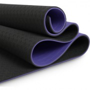 MeFree MeEasy Reversible Yoga Mat Double Layered 8 mm (Grey + Lilac)