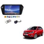 7 Inch Full HD Bluetooth LED Video Monitor Screen with USB Bluetooth + 8 LED Reverse Parking Camera For Tata Bolt
