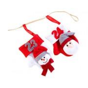 Adventskalender-Girlande mit 24 Nikolaus-Handschühchen   Adventskalender