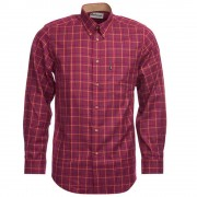 Barbour Herenblouse Sporting Tattersall Ruby