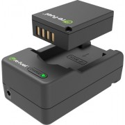 Digipower - NPW126 digital camera battery & charger kit, replacement for Fujifilm NP-W126 battery pack - Black