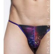 Mategear Nam Woo IX Special Fabrics Series Mini Bikini Swimwear Purple Leopard Abstract 1260401