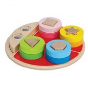 Hape - Early Explorer - Ladybug Shape Sorter Wooden Stacking Toy