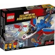 LEGO MARVEL SUPER HEROES - CAPITANUL AMERICA: URMARIREA AVIONULUI CU REACTIE 76076