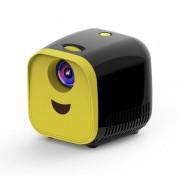 L1 Kids Mini Projector Support Full HD 1080P Children Early Education Projector - Black/UK Plug